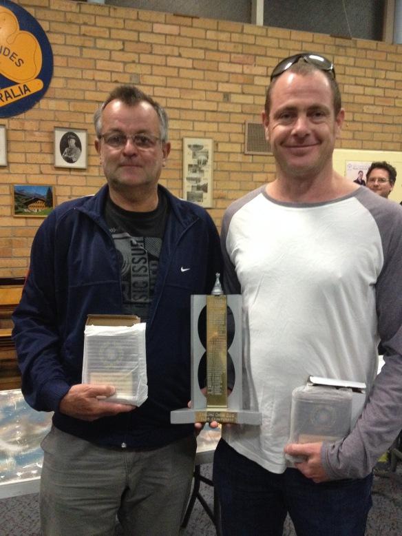 Zoran Babic (L) and Geoff Barber shared the Club Championship.