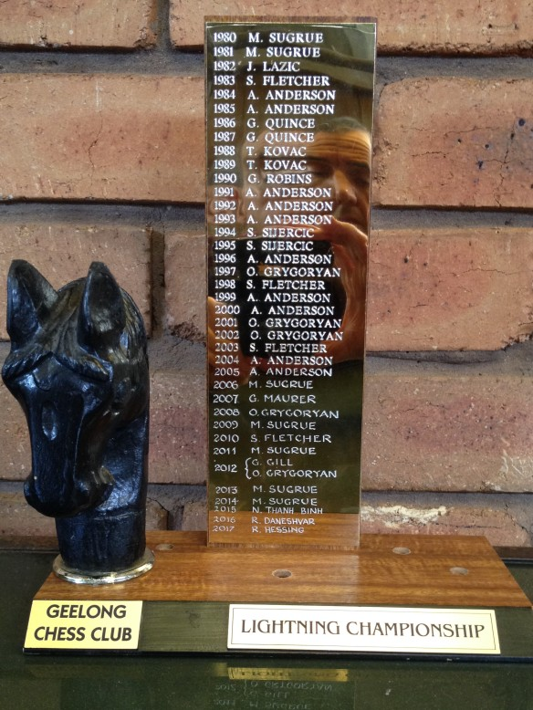 Perpetual Lightning Championship Trophy